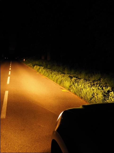Pohled z auta - potkávací světla
