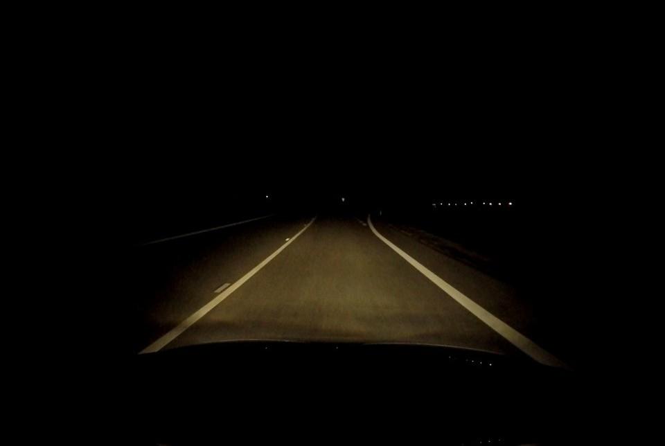 Viditelnost z auta v noci - xenonová světla