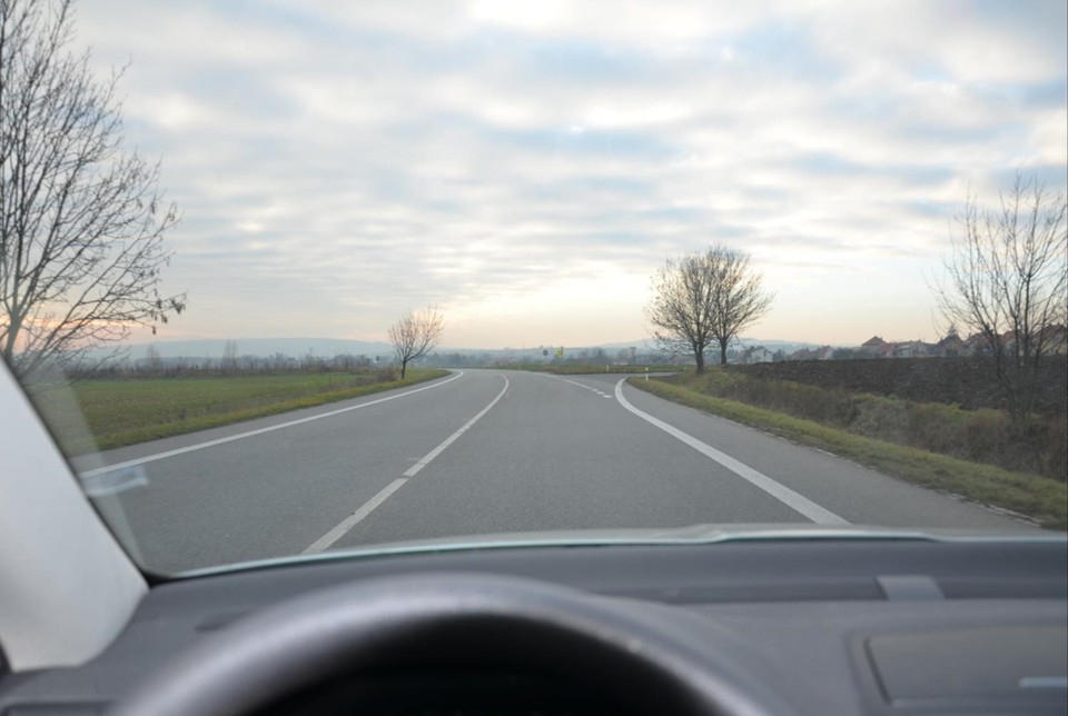 Viditelnost z auta ve dne