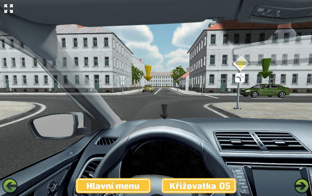 Křižovatka sdopravními značkami