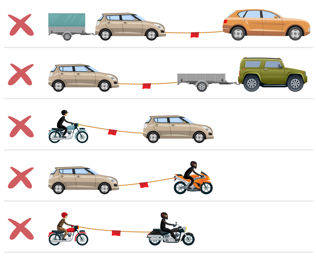 Tažení / vlečení vozidla - co se nesmí táhnout