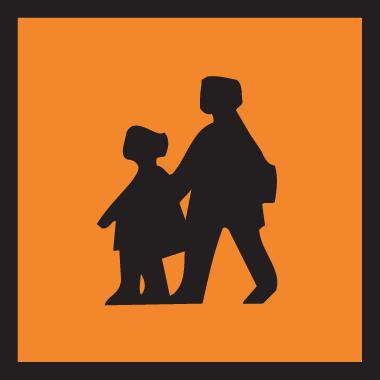 Označení autobusu převážejícího děti
