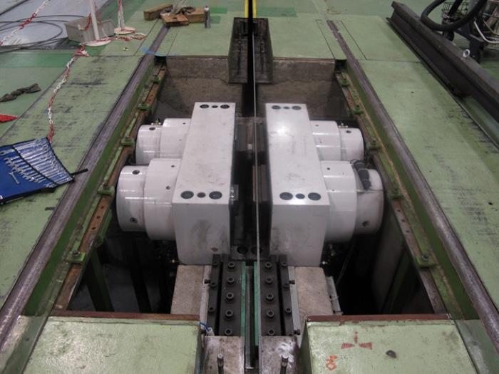 Hydraulická brzda INOVA v odkrytém stavu