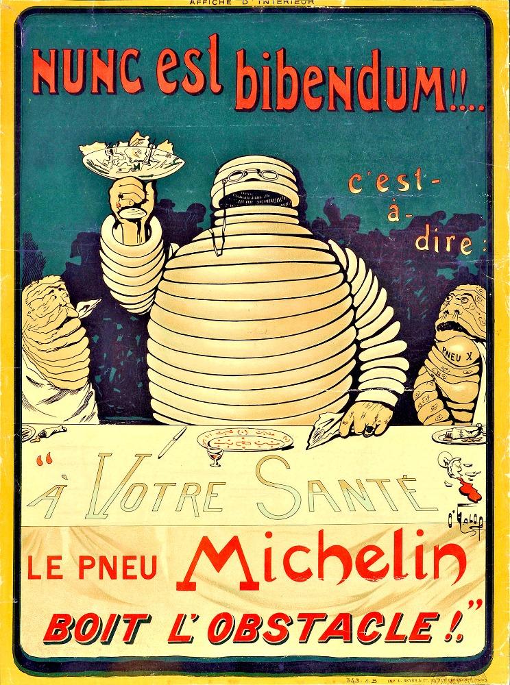 Plakát Michaelin 1898