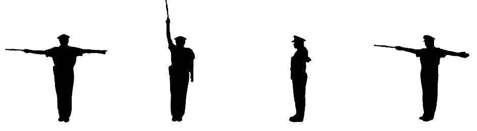 Pokyny policisty v silničním provozu