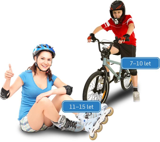 Věkové kategorie 7–10 let a 11–15 let