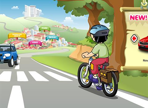 S Tomíkem na kole