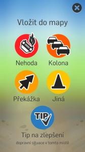 Doprava - mobilní aplikace - vložení nové události