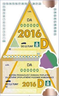 Dálniční známka - Desetidenní kupón
