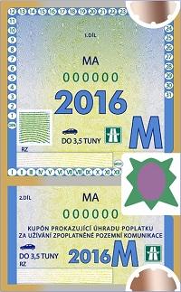 Dálniční známka - Měsíční kupón