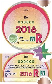 Dálniční známka - Roční kupón