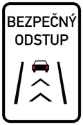 Dopravní značka - Bezpečný odstup