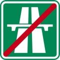 Dopravní značka - Konec dálnice