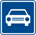 Dopravní značka - Silnice pro motorová vozidla