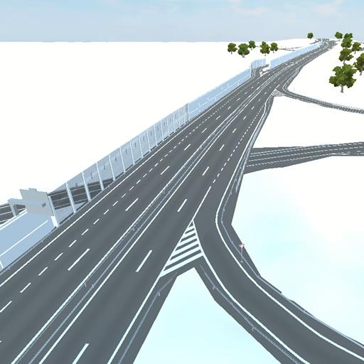 Připojovací a odbočovací pruh na dálnici a silnici pro motorová vozidla