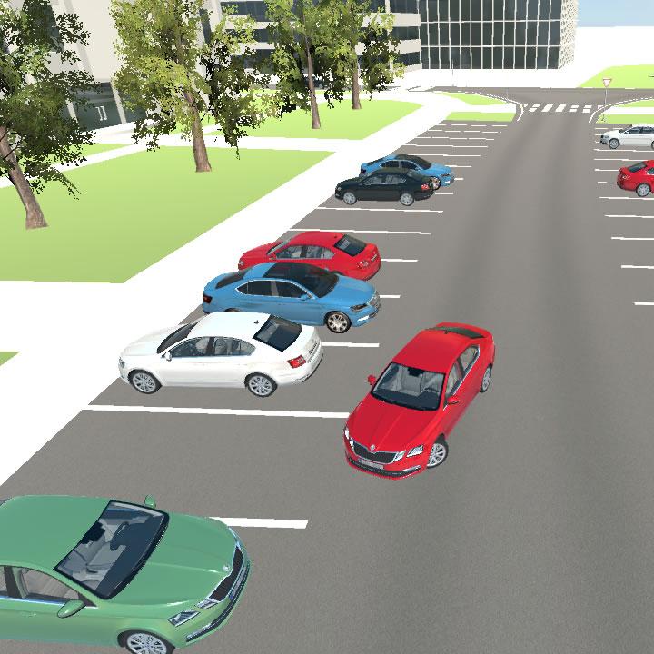 Parkování a výjezd z parkovacího místa