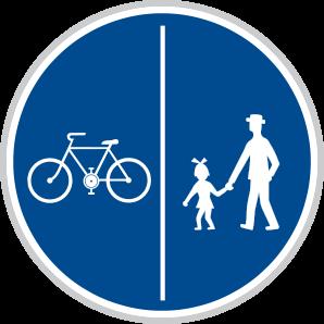 Oddělená stezka pro chodce a cyklisty