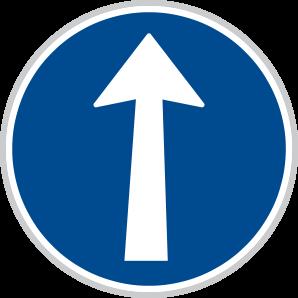 Přikázaný směry jízdy
