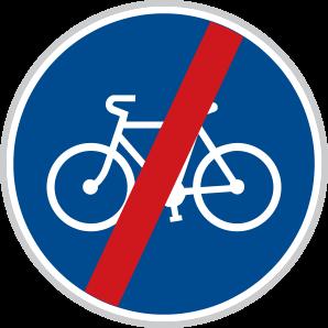 Konec stezky pro cyklisty