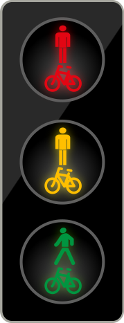 Semafor pro chodce a cyklisty