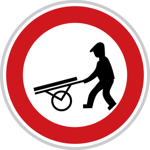 Zákaz vjezdu ručních vozíků