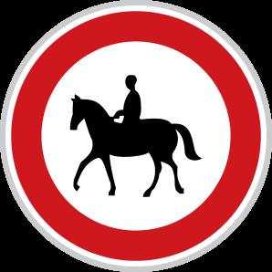 Zákaz vjezdu pro jezdce na zvířeti
