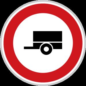Zákaz vjezdu motorových vozidel s přípojným vozidlem