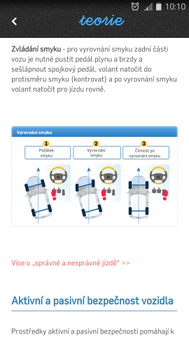 Autoškola - mobilní aplikace - teorie