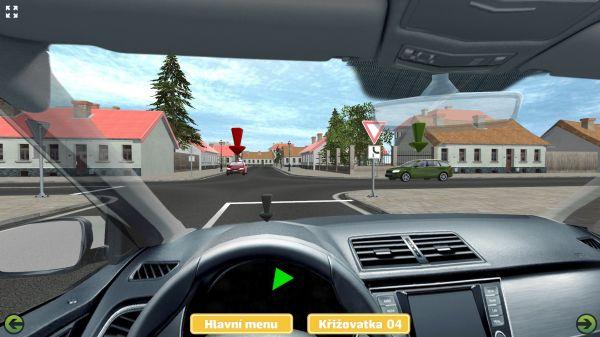 Autoškola - 3D křižovatky