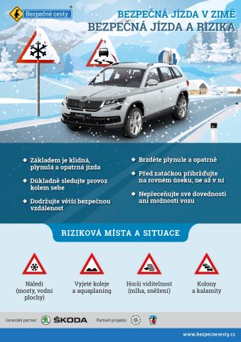 Bezpečná jízda v zimě a rizika