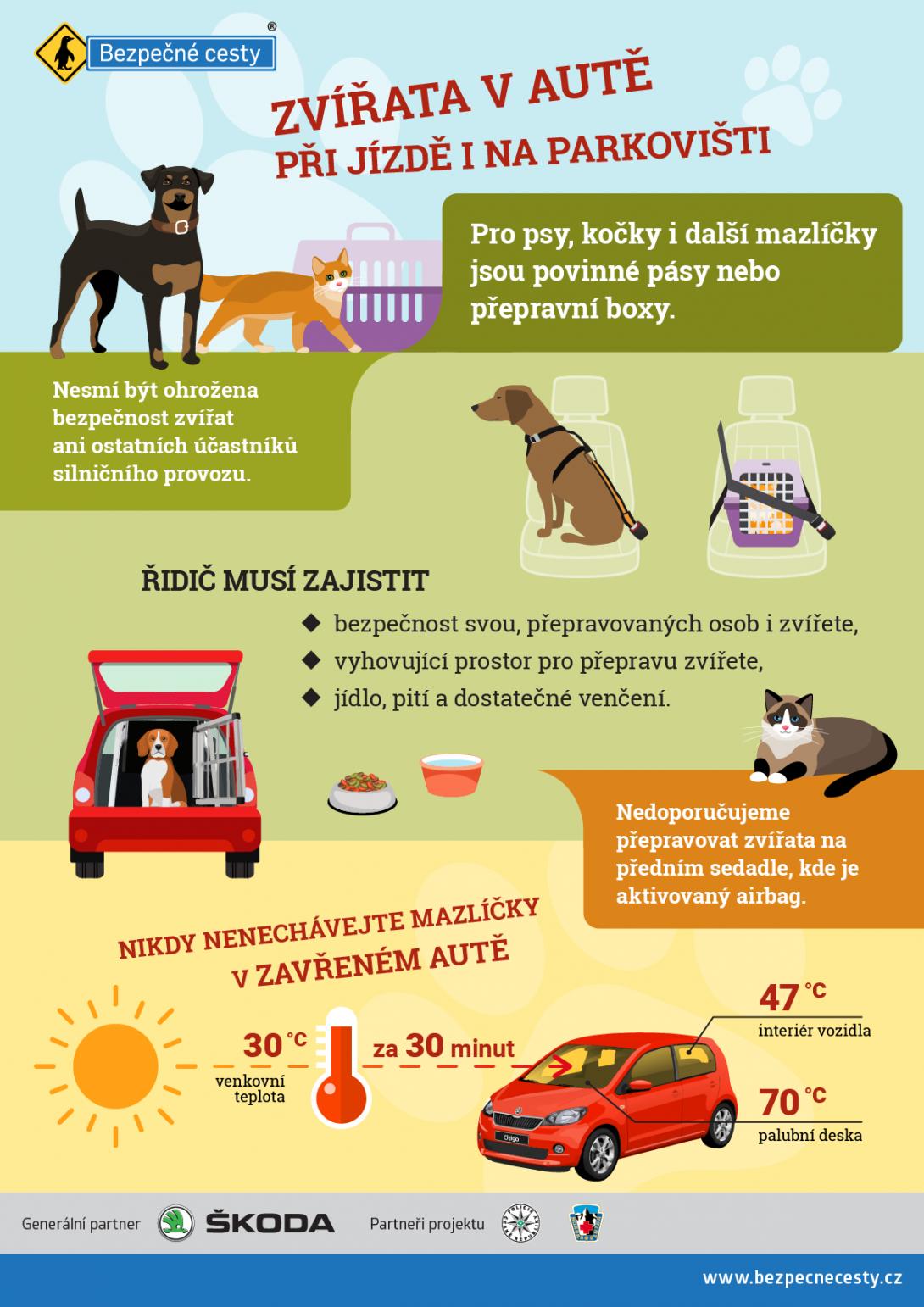 Přeprava zvířat - infografika