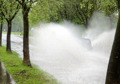 Bouřky a aquaplaning