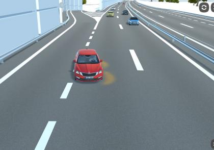 Připojovací pruh na dálnici
