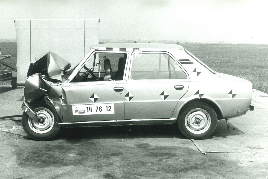 Příklad výsledku homologační zkoušky EHK 12 Škoda 105