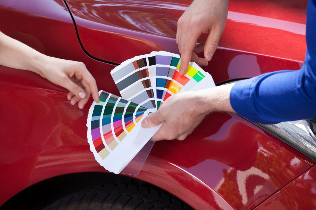 Barva auta - paleta