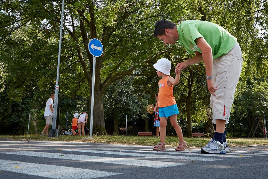 Naučení trasy je dobré si několikrát s dítětem projít