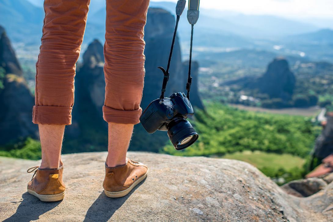 Špatně oblečený a vybavený turista na horách
