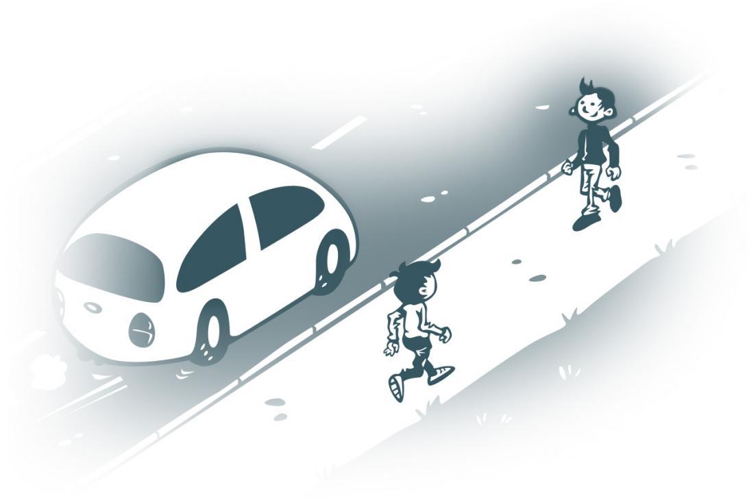 Kdo je chodec - ilustrace