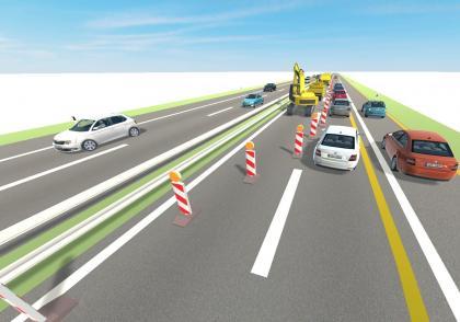 Jak správně a bezpečně jezdit v zúžení a co znamená Střídavá jízda?