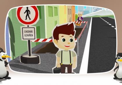 Animovaná dopravní výchova ve 2. B