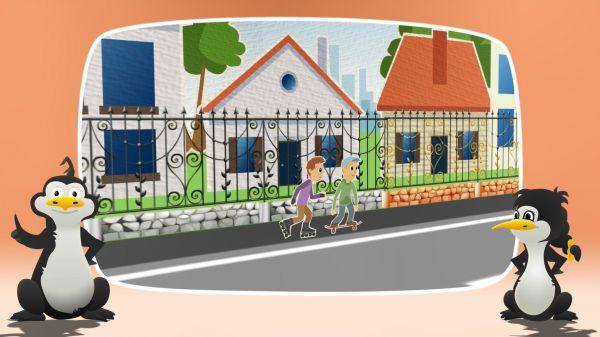 Animovaná dopravní výchova - Chodec