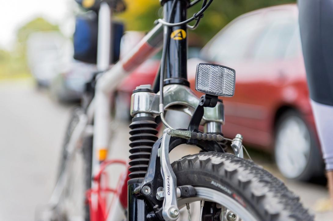 Cyklovýlet - příprava před jízdou - odrazky