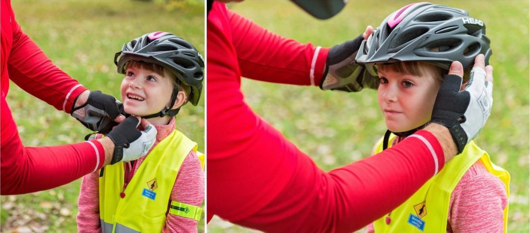 Cyklovýlet - s nasazením přilby mohou pomoci rodiče