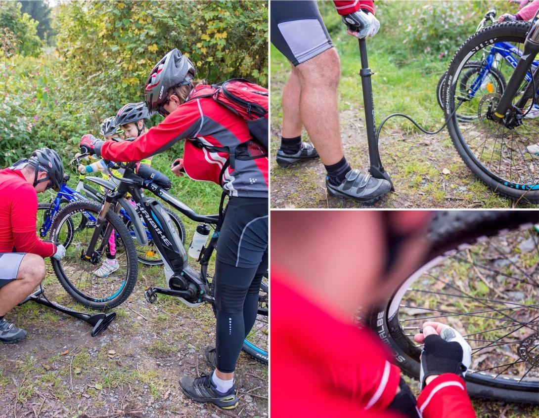 Cyklovýlet - pumpička a nafouknutí měkkého kola