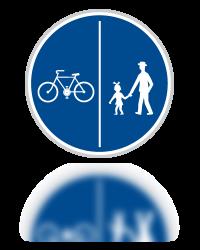 Stezka pro chodce a cyklisty oddělená