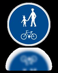 Stezka pro chodce a cyklisty neoddělená
