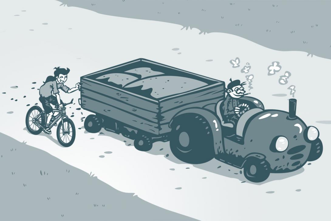 Držení jiného vozidla / Jízda těsně za vozidlem