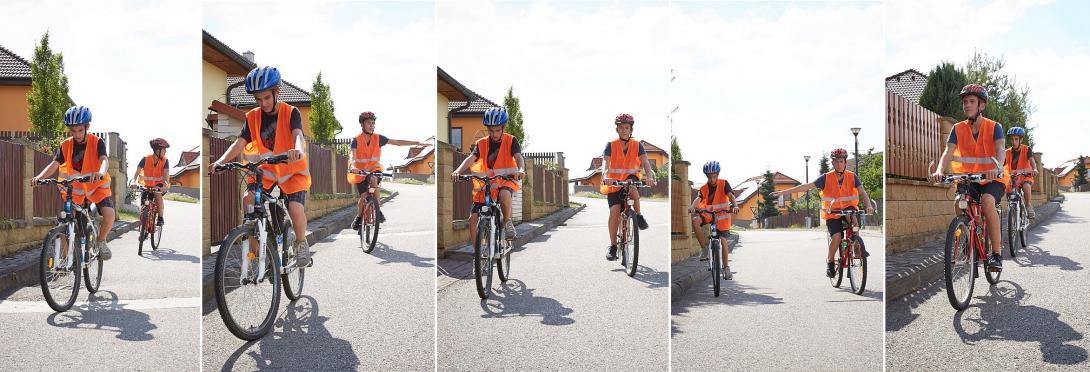 Předjíždění na kole
