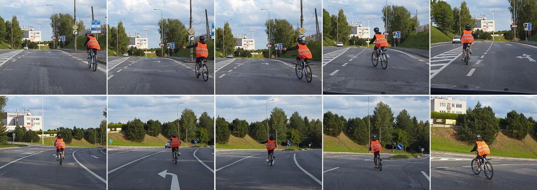 Odbočení na kole vlevo (odbočovací pruh)