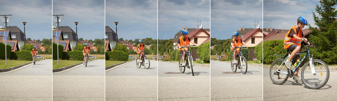 Odbočení na kole vlevo